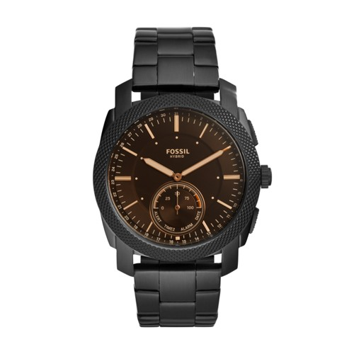 Fossil Hybrid Smartwatch - Machine Black Stainless Steel FTW1165