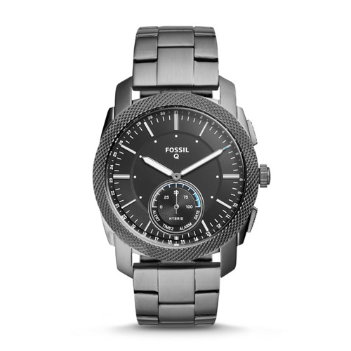 Fossil REFURBISHED Hybrid Smartwatch - Machine Smoke Stainless Steel FTW1166J