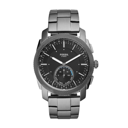 Fossil Hybrid Smartwatch - Machine Smoke Stainless Steel FTW1166