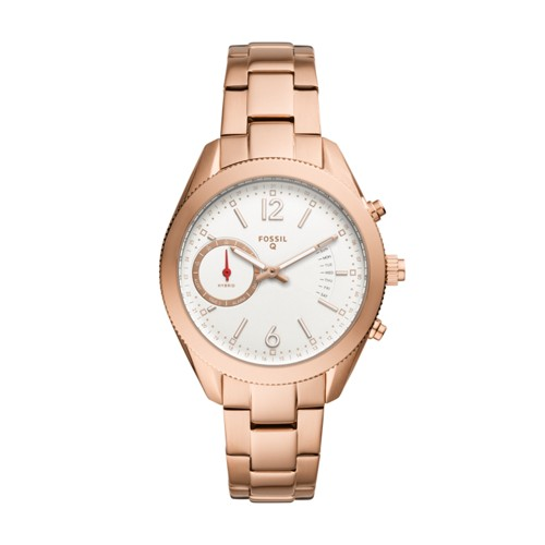 Fossil Hybrid Smartwatch - Q Alyx Rose Gold-Tone Stainless Steel Ftw1168