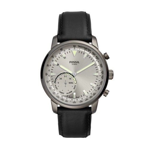 fossil Hybrid Smartwatch - Goodwin Black Leather FTW1171