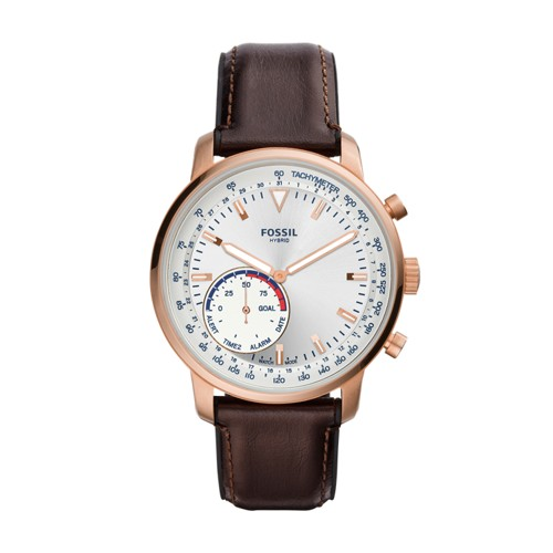 fossil Hybrid Smartwatch - Q Goodwin Brown Leather FTW1172