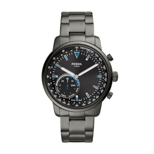 fossil Hybrid Smartwatch - Goodwin Smoke Stainless Steel FTW1174