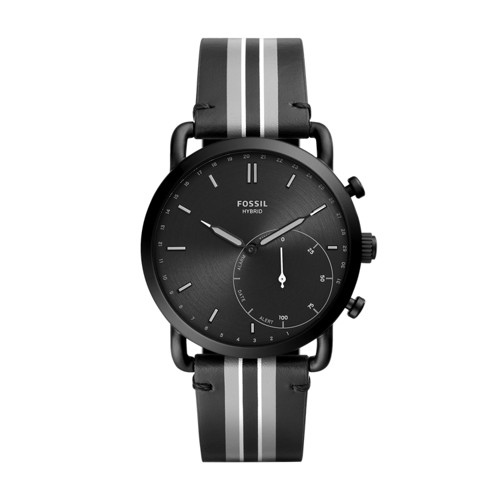 Hybrid Smartwatch - Commuter Black Stripe Leather FTW1181