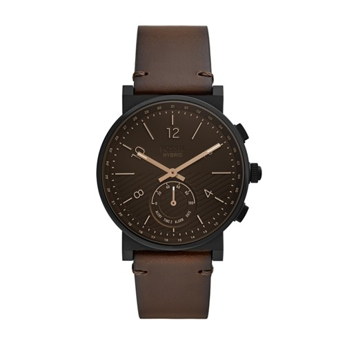Hybrid Smartwatch - Barstow Dark Brown Leather FTW1186