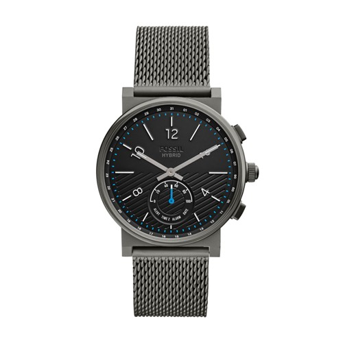 fossil Hybrid Smartwatch - Barstow Smoke Stainless Steel FTW1189