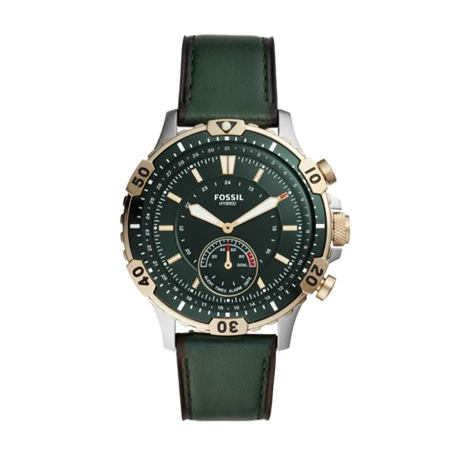 Hybrid Smartwatch Garrett Dark Green Leather FTW1193
