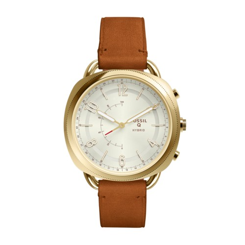 Fossil Hybrid Smartwatch - Q Accomplice Luggage Leather Ftw1201