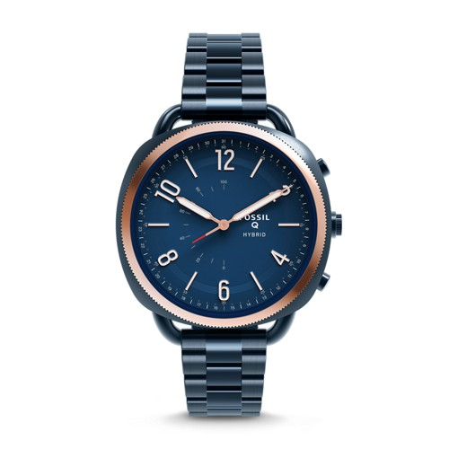 Fossil REFURBISHED Hybrid Smartwatch - Q Accomplice Navy Blue Stainless Steel FTW1203J