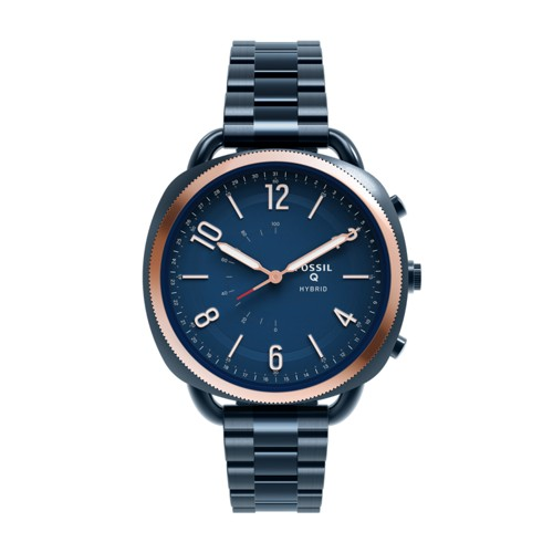 Fossil Hybrid Smartwatch - Q Accomplice Navy Blue Stainless Steel Ftw1203