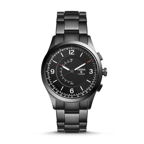 Fossil REFURBISHED Hybrid Smartwatch - Q Activist Smoke Stainless Steel FTW1207J