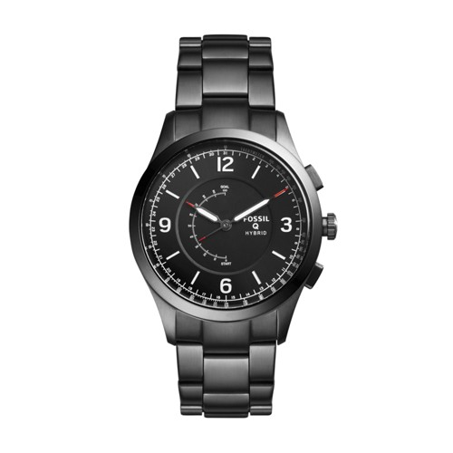 Fossil Hybrid Smartwatch - Q Activist Smoke Stainless Steel Ftw1207