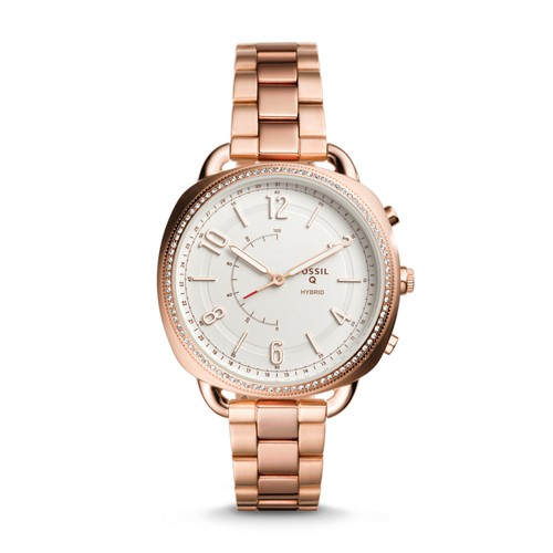 Fossil REFURBISHED Hybrid Smartwatch - Accomplice Rose Gold-Tone Stainless Steel FTW1208J