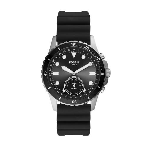 Fossil Hybrid Smartwatch Fb-01 Black Silicone  jewelry