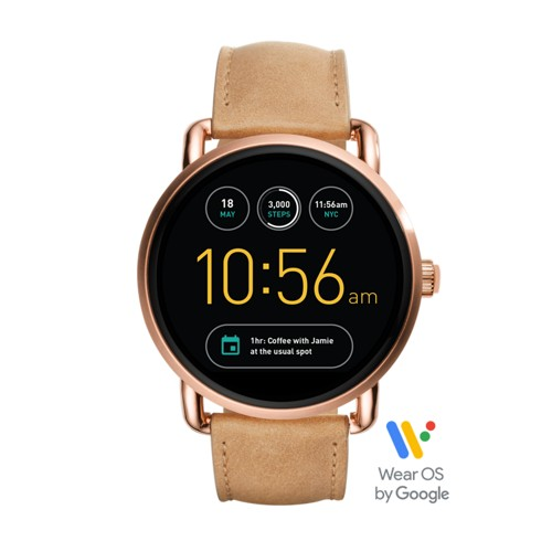 Fossil Gen 2 Smartwatch - Q Wander Light Brown Leather Ftw2102