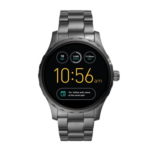Fossil Gen 2 Smartwatch - Q Marshal Smoke Stainless Steel Ftw2108