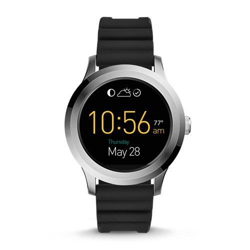 Fossil REFURBISHED Gen 2 Smartwatch - Q Founder Black Silicone FTW2118J