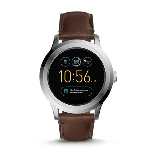 Fossil REFURBISHED Gen 2 Smartwatch - Q Founder Dark Brown Leather FTW2119J