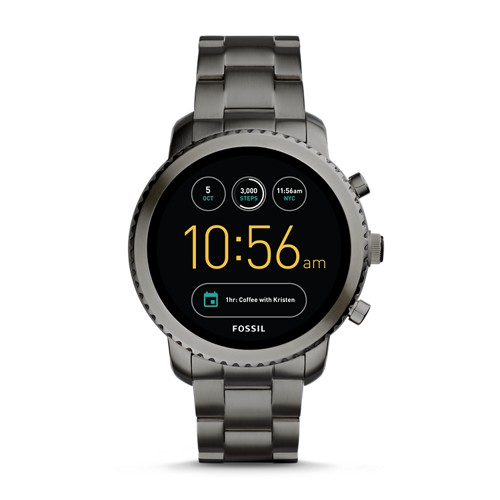 Fossil REFURBISHED Gen 3 Smartwatch - Q Explorist Smoke Stainless Steel FTW4001J