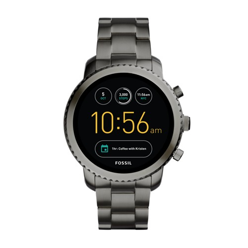 Fossil Gen 3 Smartwatch - Explorist Smoke Stainless Steel FTW4001