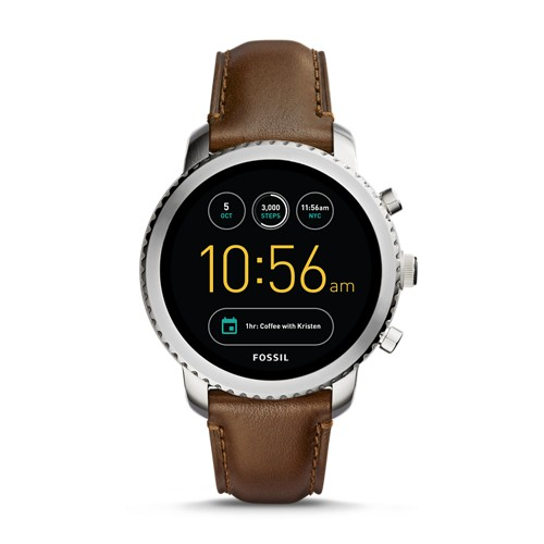 Fossil REFURBISHED Gen 3 Smartwatch - Q Explorist Brown Leather FTW4003J