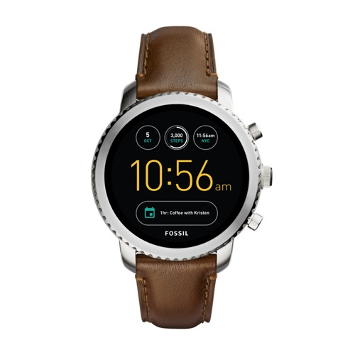 Fossil Gen 3 Smartwatch - Q Explorist Brown Leather FTW4003