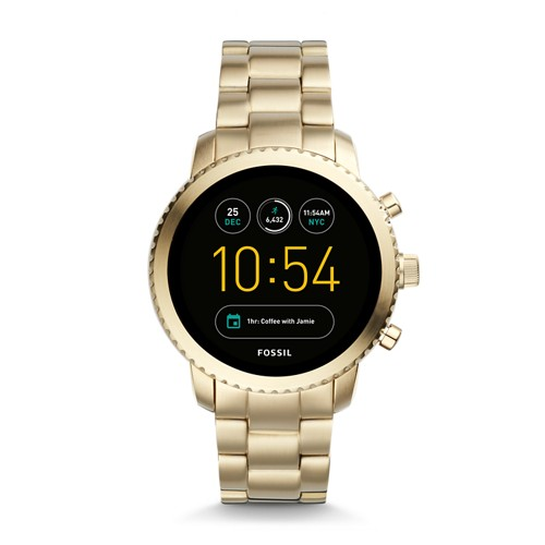 Fossil REFURBISHED Gen 3 Smartwatch - Q Explorist Gold-Tone Stainless Steel FTW4010J