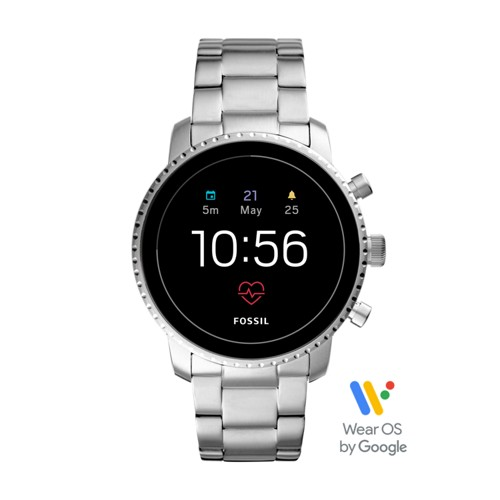 fossil Gen 4 Smartwatch - Explorist HR Stainless Steel FTW4011