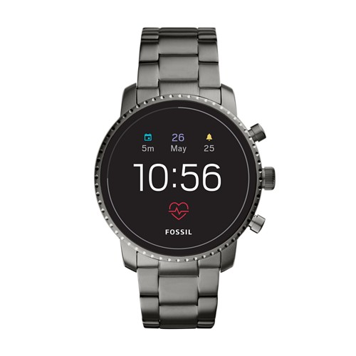 fossil REFURBISHED - Gen 4 Smartwatch - Explorist HR Smoke Stainless Steel FTW4012J