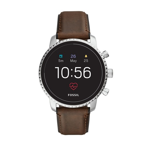 fossil REFURBISHED - Gen 4 Smartwatch - Explorist HR Brown Leather FTW4015J