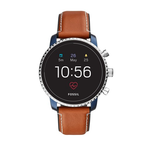 fossil REFURBISHED - Gen 4 Smartwatch - Explorist HR Tan Leather FTW4016J