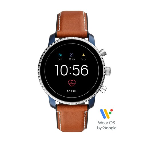 fossil Gen 4 Smartwatch - Q Explorist HR Tan Leather FTW4016