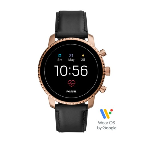 fossil Gen 4 Smartwatch - Explorist HR Black Leather FTW4017