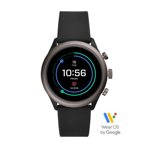 fossil REFURBISHED - Fossil Sport Smartwatch - 43mm Black Silicone FTW4019J
