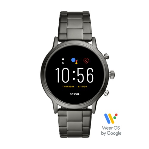 fossil Gen 5 Smartwatch - The Carlyle HR Smoke Stainless Steel FTW4024