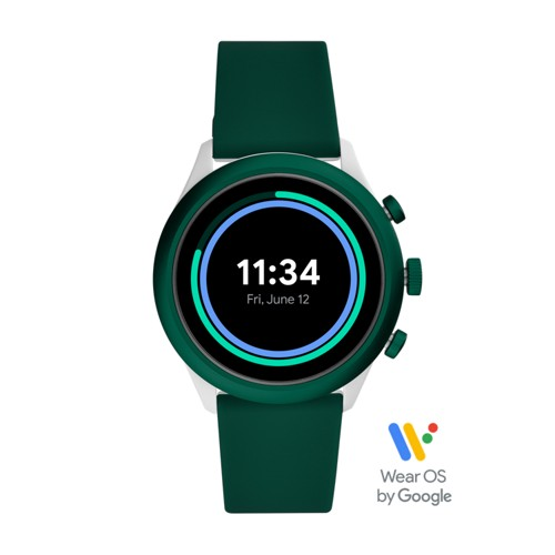 Sport Smartwatch 43mm Green Silicone FTW4035