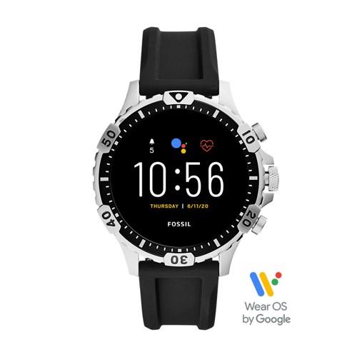 Fossil Gen 5 Smartwatch Garrett Hr Black Silicone  jewelry