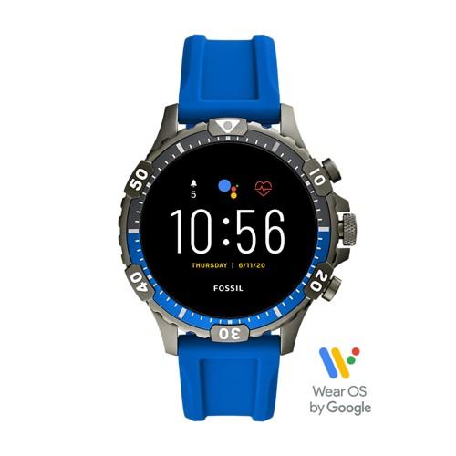 Fossil Gen 5 Smartwatch Garrett Hr Blue Silicone  jewelry