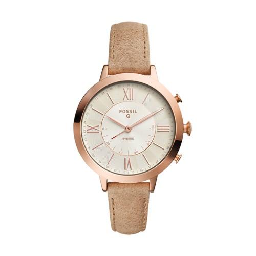 Fossil REFURBISHED Hybrid Smartwatch - Q Jacqueline Bone Leather FTW5013J