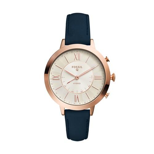 Fossil REFURBISHED Hybrid Smartwatch - Q Jacqueline Navy Leather FTW5014J