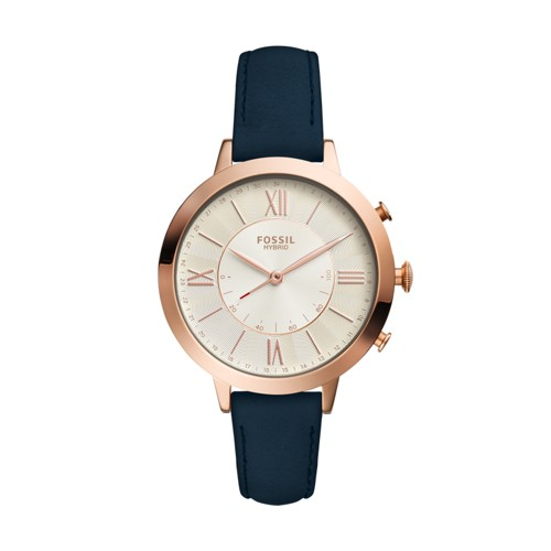 Fossil Hybrid Smartwatch - Jacqueline Navy Leather FTW5014