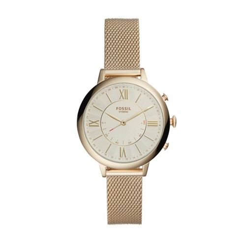 Fossil Hybrid Smartwatch - Q Jacqueline Gold-Tone Stainless Steel FTW5020