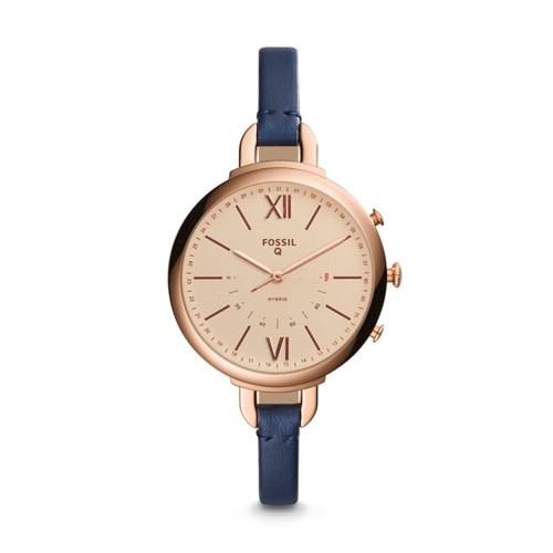 Fossil REFURBISHED Hybrid Smartwatch - Q Annette Blue Leather FTW5022J