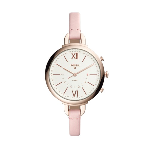 Fossil Hybrid Smartwatch - Q Annette Pink Leather FTW5023