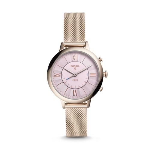 Fossil REFURBISHED Hybrid Smartwatch - Q Jacqueline Pastel Pink Stainless Steel FTW5025J