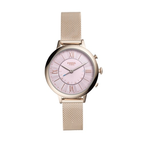 Fossil Hybrid Smartwatch - Jacqueline Pastel Pink Stainless Steel FTW5025