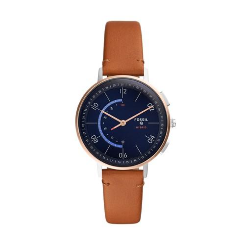 fossil Hybrid Smartwatch - Q Harper Tan Leather FTW5027