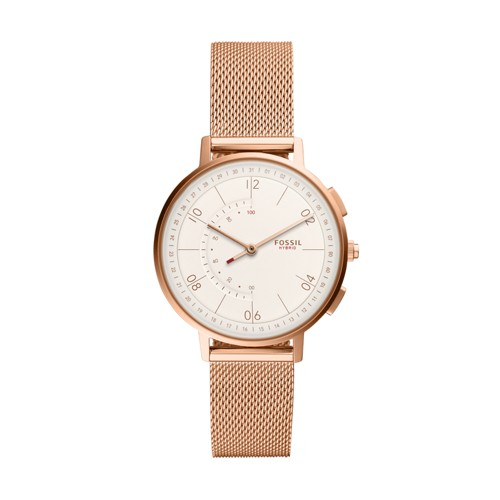 fossil Hybrid Smartwatch - Harper Rose Gold-Tone Stainless Steel FTW5028