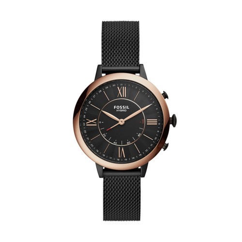 fossil Hybrid Smartwatch - Jacqueline Black Stainless Steel FTW5030