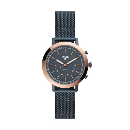 fossil Hybrid Smartwatch - Neely Navy Stainless Steel FTW5031